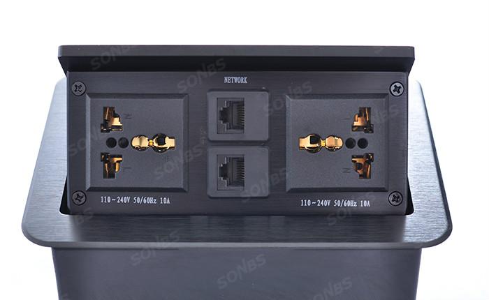 弹起式多功能桌面插座